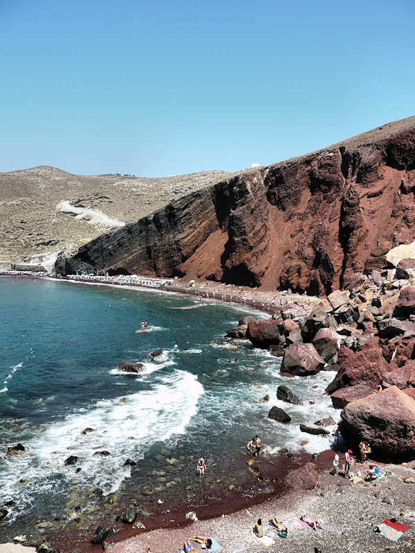 Santorin Plage Red Beach 10