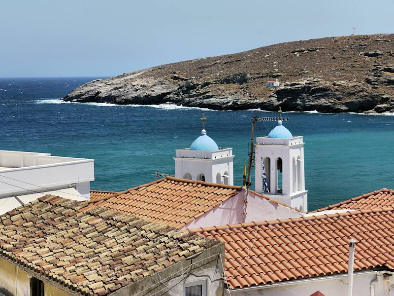 Chora Andros Terrasse Cafe 07